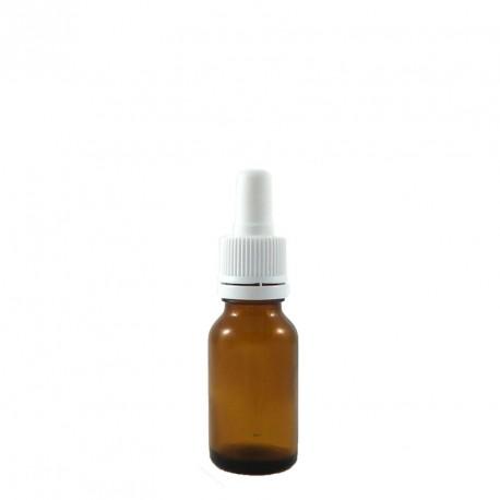 Flacon pipette compte goutte vide 15ml verre ambré