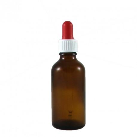 Flacon pipette compte goutte verre vide 50ml