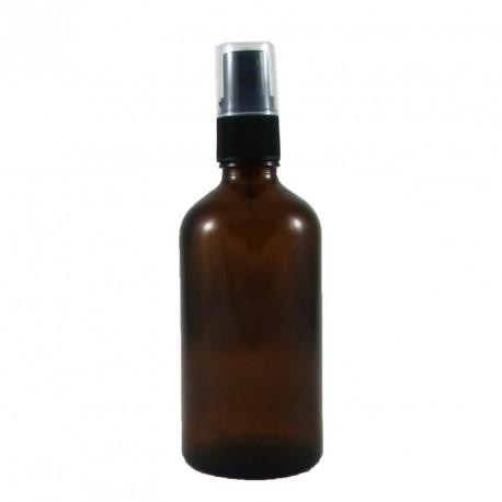 Flacon spray vide 100ml verre brun avec bouchon pompe vaporisateur