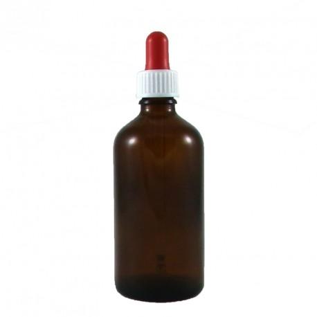 Flacon pipette compte goutte vide verre ambré 100ml