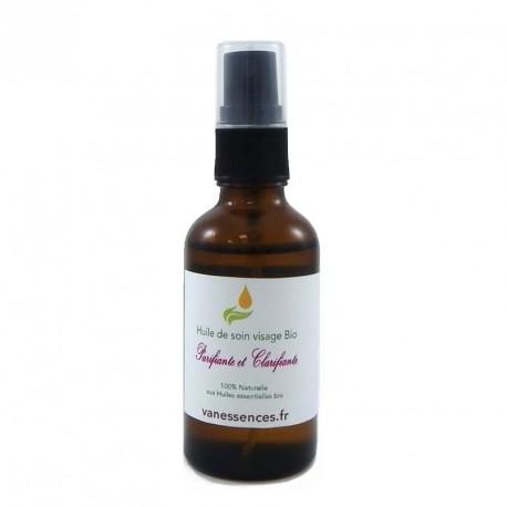 Soin du visage naturel purifiant anti acné aux huiles essentielles Bio