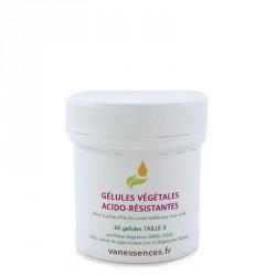 Gélules vides acido-résistantes végétales pour huile essentielle