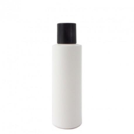 Flacon plastique vide blanc 125ml bouchon capsule service disctop noir