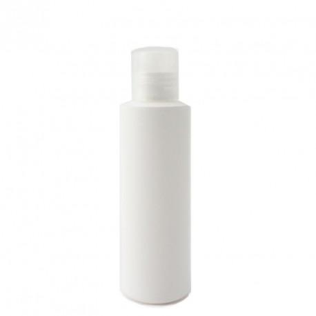 Flacon plastique vide blanc 125ml bouchon capsule service disctop