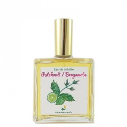 Eau de toilette Patchouli Bergamote. Parfum naturel aux huiles essentielles