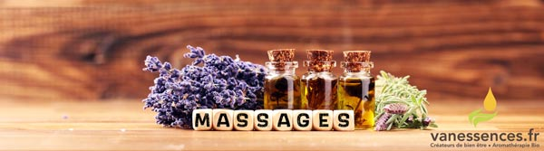 Huiles de massage bio