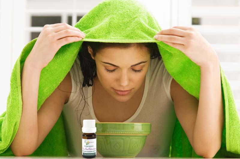 sauna facial huile essentielle traitement acne