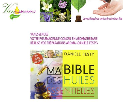 Vanessences.fr réalise toutes vos préparations aromatherapie Daniele Festy