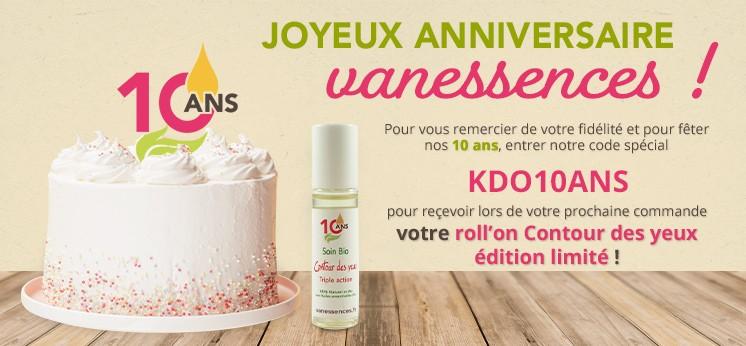 """A l'occasion de ses 10 ans, vanessences.fr vous offre un roll'on """"Contours des yeux"""" édition spécial !"""