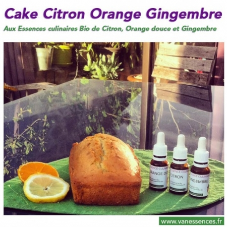 Cake Citron, Orange douce et Gingembre